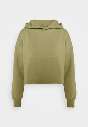 ONYFAVE LIFE CROPPED HOOD - Sweatshirt - covert green