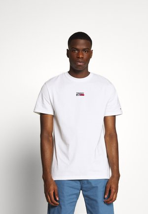 SMALL CENTERED LOGO TEE - T-shirt z nadrukiem - white