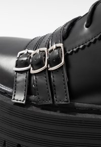 Lost Ink Wide Fit - WIDE FIT BUCKLE DETAIL CHUNKY LACE UP BOOT  - Biker-/cowboynilkkurit - black - 2
