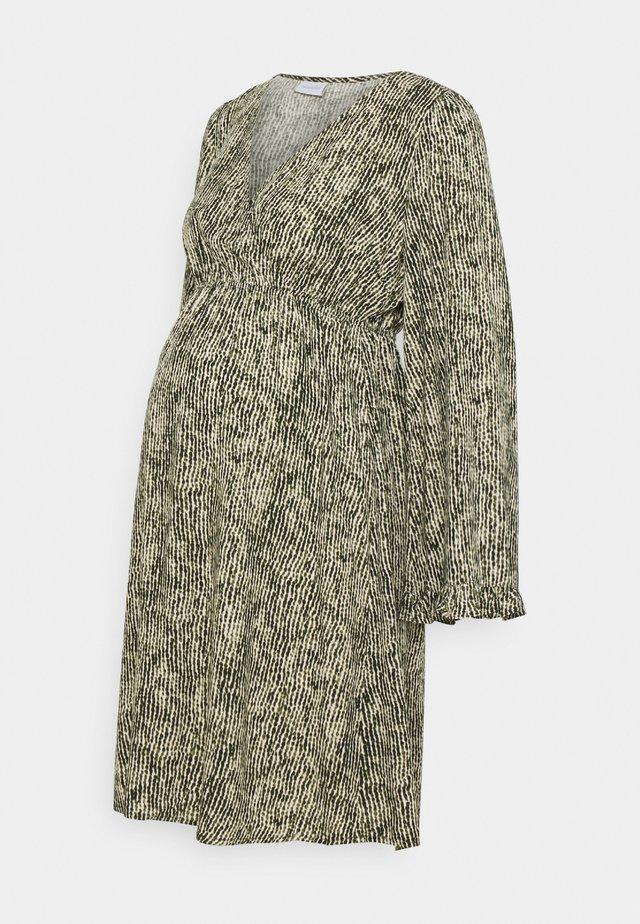 MLMAYRA DRESS  - Korte jurk - snow white/green