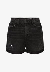 Noisy May - Denim shorts - black denim - 4