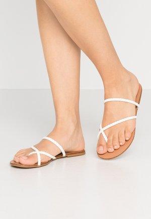 WISER - T-bar sandals - white