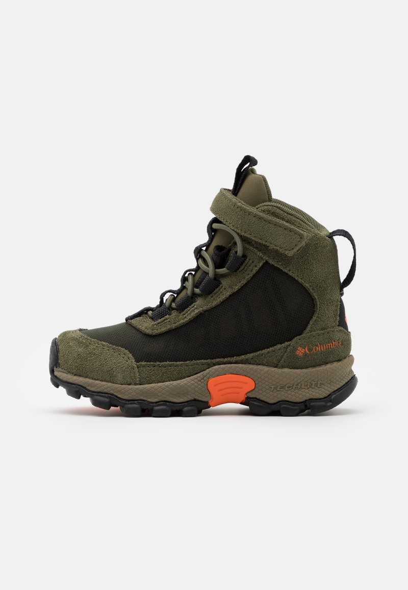 Columbia - CHILDRENS FLOWBOROUGH MID - Hiking shoes - nori/tangy orange