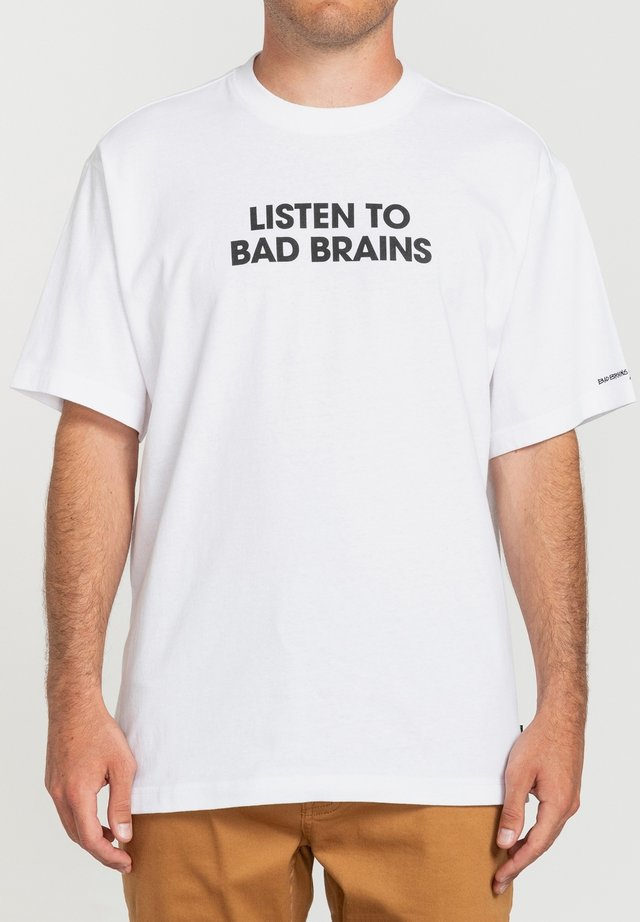 LISTEN TO BAD BRAINS  - T-shirt print - optic white
