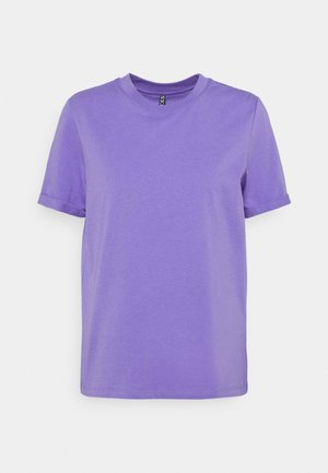 PCRIA FOLD UP SOLID TEE  - Basic T-shirt - dahlia purple