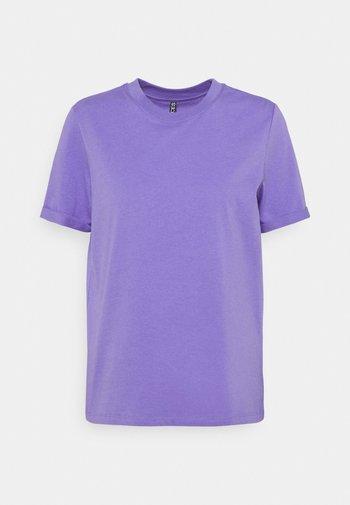 PCRIA FOLD UP SOLID TEE  - T-shirt basic - dahlia purple