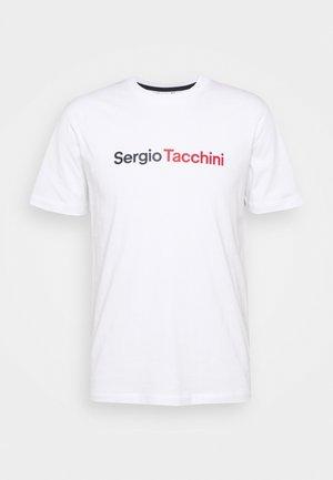 ROBIN - Print T-shirt - white/red