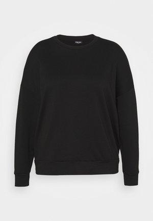 PCRELAX BLOUSE CURVE - Sweatshirt - black