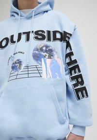 PULL&BEAR - Hoodie - light blue - 3