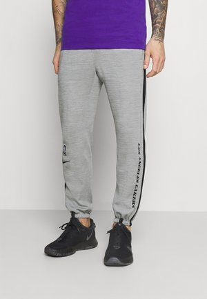 NBA LA LAKERS THERMAFLEX SHOWTIME TUNNELVISION PANT - Klubtrøjer - grey heather/black/white