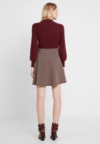 edc by Esprit - A LINE SKIRT - Mini skirt - khaki green - 3