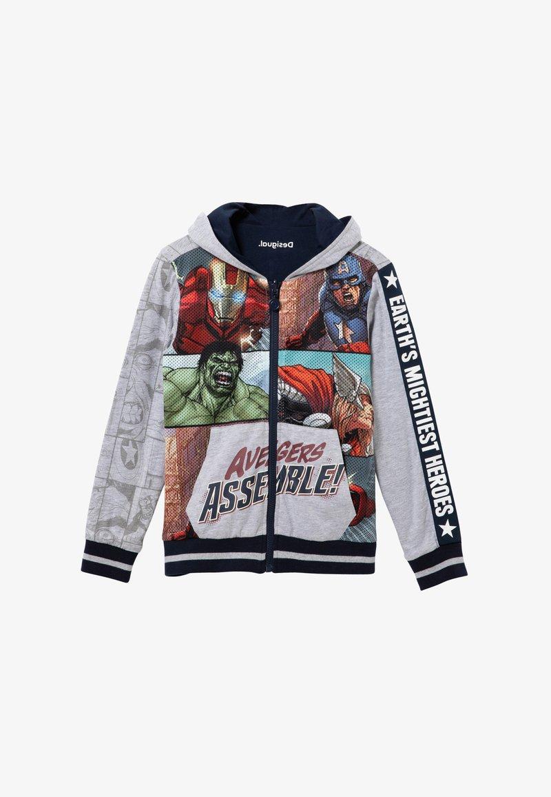 Desigual - MARVEL - Zip-up sweatshirt - black