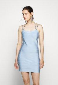 Hervé Léger - CRYSTAL DRESS - Sukienka koktajlowa - sky blue - 0