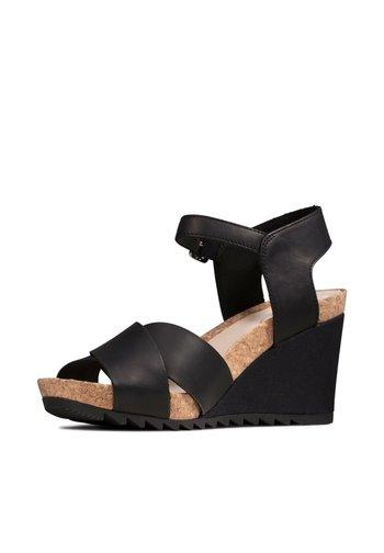 FLEX SUN - High heeled sandals - schwarzes leder