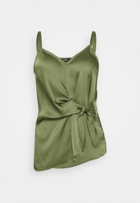 Simply Be - KNOT FRONT HAMMERED CAMI - Top - khaki - 0