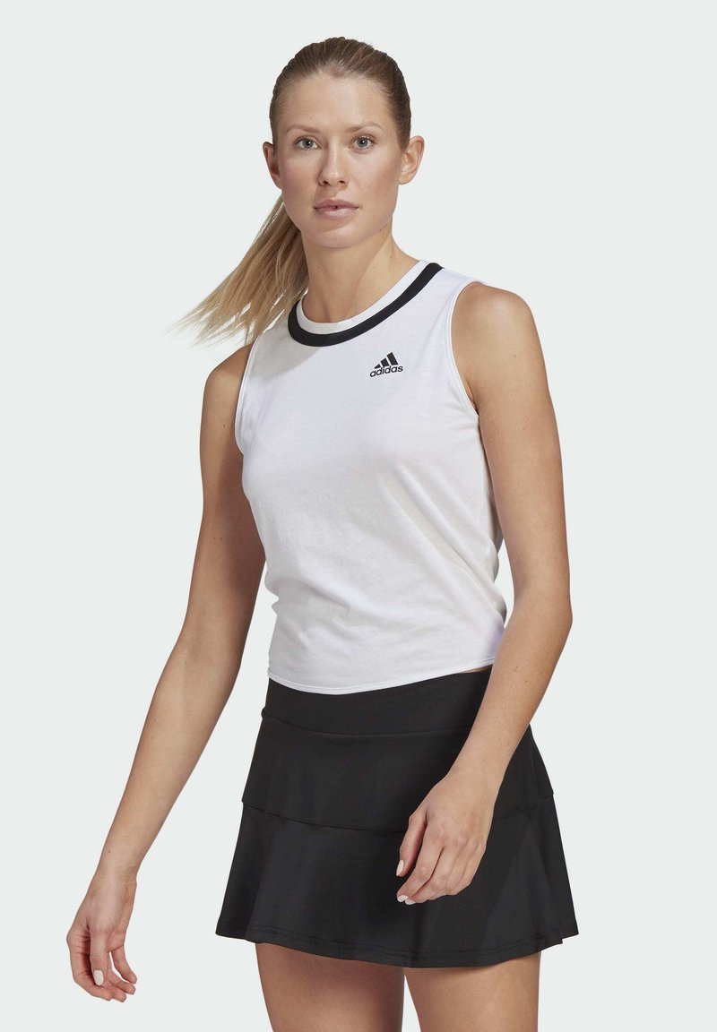 adidas Performance - CLUB KNOT TANK TENNIS AEROREADY PRIMEGREEN REGULAR TOP - Top - white