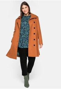 Sheego - Classic coat - cognac - 1