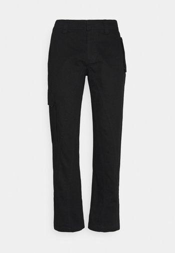 PIER ARMY - Pantalon cargo - noir