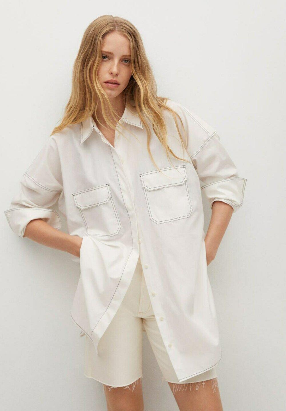 Women MIT KONTRASTNÄHTEN - Button-down blouse