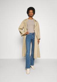 Anna Field - BASIC- RIBBED JUMPER - Pullover - gray tan - 1