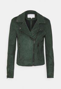 VILA PETITE - VIFADDY JACKET - Faux leather jacket - darkest spruce - 4
