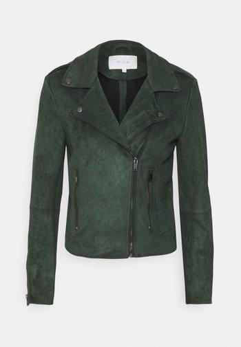 VIFADDY JACKET - Faux leather jacket - darkest spruce