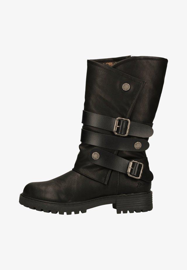 Cowboy-/Bikerlaarzen - black local sheriff/dyecut