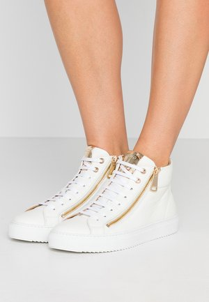 HOXTON MID CUT - High-top trainers - white