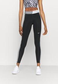 Nike Performance - Leggings - black/sail/iron grey - 0