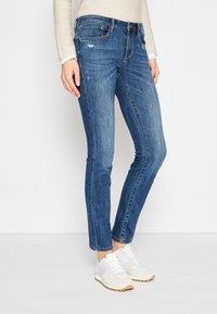 TOM TAILOR - ALEXA - Slim fit jeans - used mid stone blue denim - 0