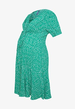 DAFFODIL TIE FRONT DRESS - Vestido camisero - green