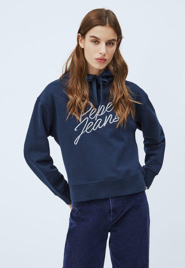 CARINA - Bluza z kapturem - dunkel ozaen blau