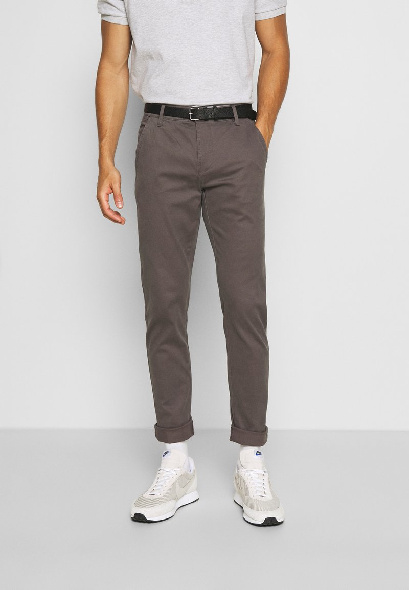 Lindbergh - CLASSIC WITH BELT - Chinos - mid grey
