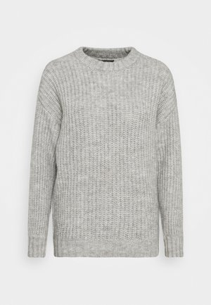 COSY WOOL BLEND JUMPER - Stickad tröja - mottled grey