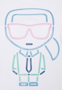 KARL LAGERFELD - IKONIK OUTLINE - Print T-shirt - white - 5