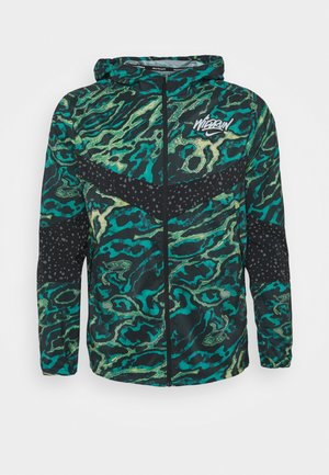 WINDRUNNER - Løbejakker - dark teal green/silver