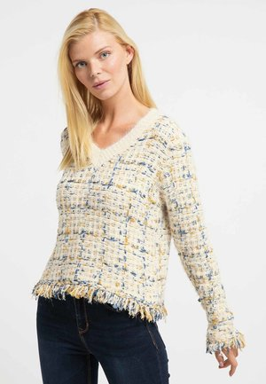 Jumper - beige yellow blue