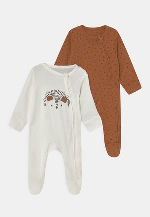 BABY 2 PACK - Sleep suit - brown/off-white
