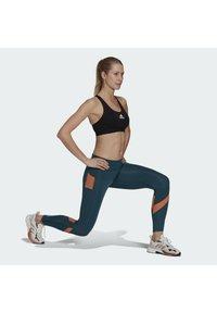 adidas Performance - Leggings - turquoise - 1