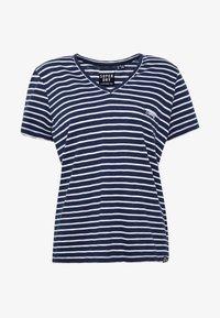 Superdry - ESSENTIAL VEE TEE - T-shirts - navy stripe - 3