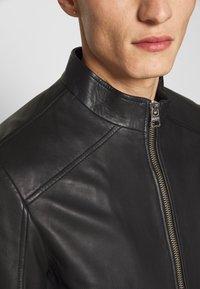 HUGO - LOKIS - Leather jacket - black - 5