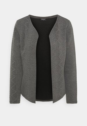 ONLCABLE SHORT CARDIGAN  - Cardigan - dark grey melange