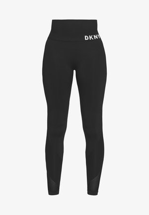 HIGH WAISTED SEAMLESS - Punčochy - black