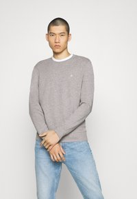 Jack & Jones - JORBASIC CREW NECK 2 PACK - Sweatshirt - light grey melange - 1