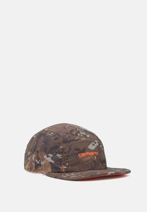 DENBY - Cap - khaki/safety orange