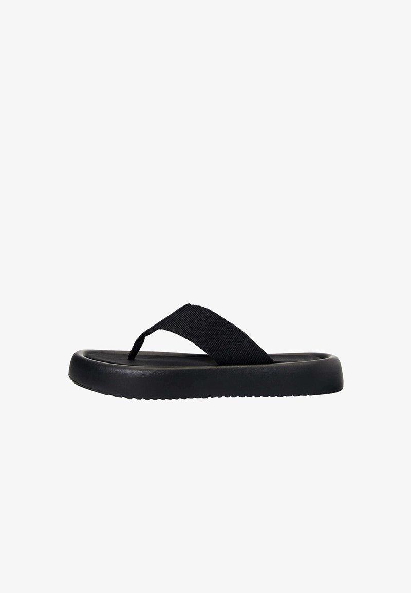 OYSHO - T-bar sandals - black