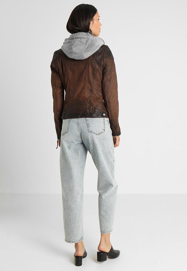Gipsy CASCHA LAMOV - Veste en cuir - antic brown - Vestes Femme sGa2A