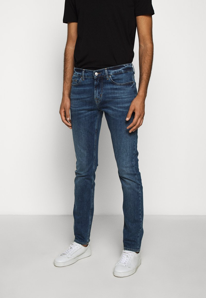 7 for all mankind - RONNIE OFFICER - Džíny Slim Fit - mid blue