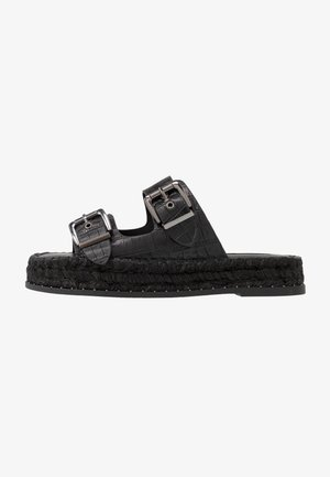 PALM  - Pantolette flach - black
