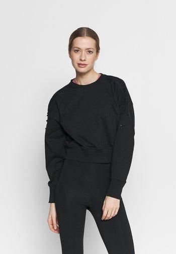 CROP CREW - Sweatshirt - black